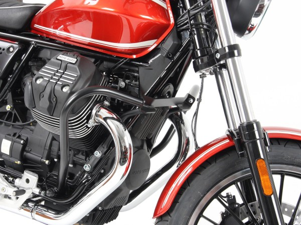 Engine protection bar black for V 9 Roamer (Bj.16-) original Hepco & Becker