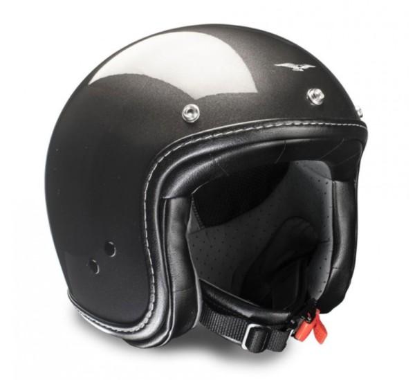 Moto Guzzi Jet Helmet Engine art gray