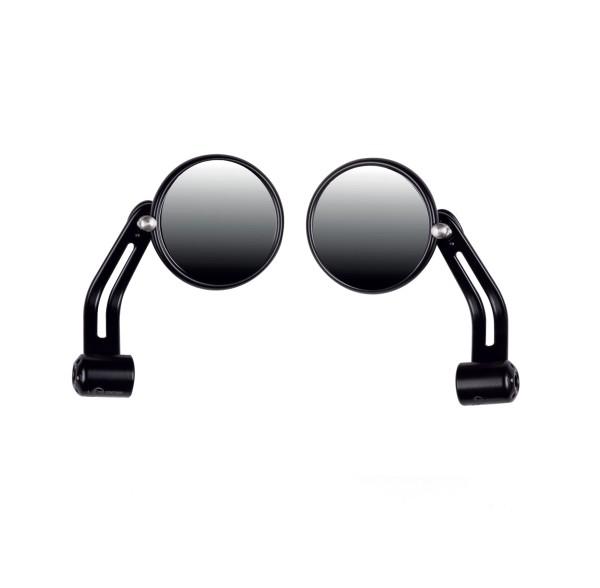 Handlebar end mirror black, aluminum for Moto Guzzi V7 I + II, V7 III