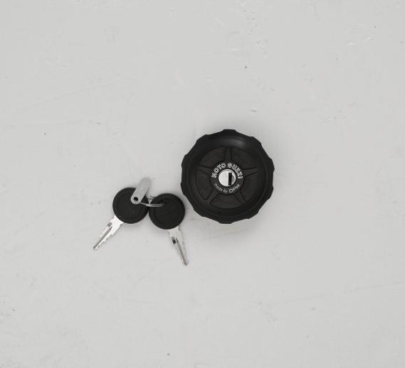 Tank cover, Dark Rider, aluminum, black for Moto Guzzi V9 Bobber / V9 Roamer