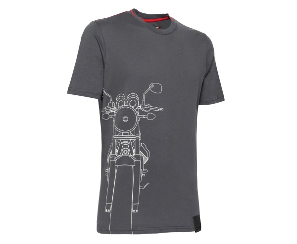 Moto Guzzi men's t-shirt cotton gray