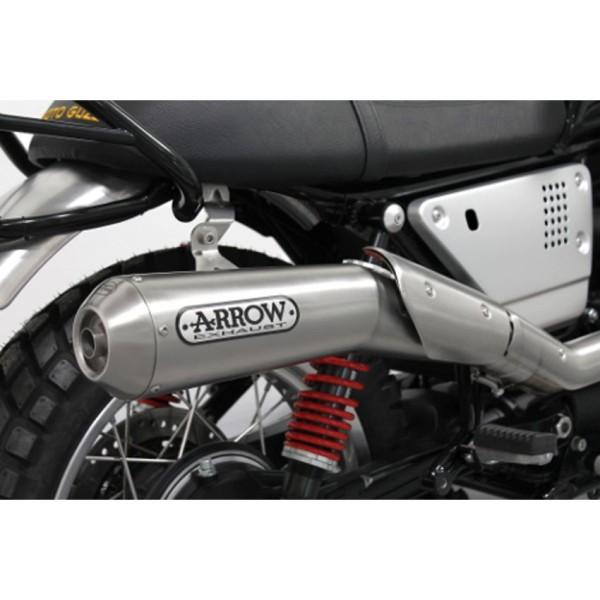 Original Moto guzzi V7 III 2018- exhaust system Arrow, Euro 4, 2 in 1