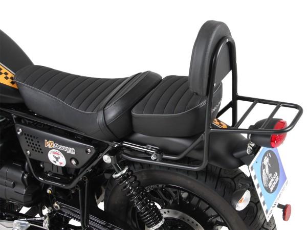 Sissy bar with luggage rack black for V 9 Bobber (Bj.17-) model with long seat