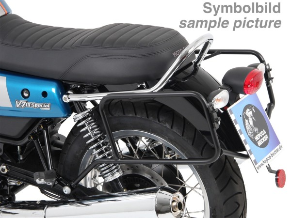 Side case carrier permanently screwed chrome for V 7 III stone / special / Anniversario / Racer (Bj.17-)