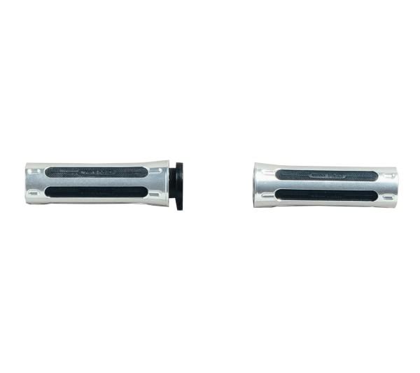 Grip rubber set, aluminum Moto Guzzi for V9 Roamer / Bobber