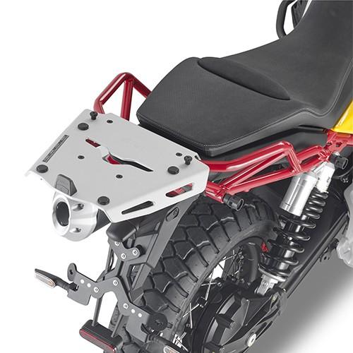 Top case carrier aluminum for Moto Guzzi V85 TT (Bj.19-) original Givi