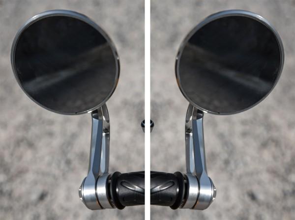 Handlebar end mirror, set, aluminum for Moto Guzzi V7 III original