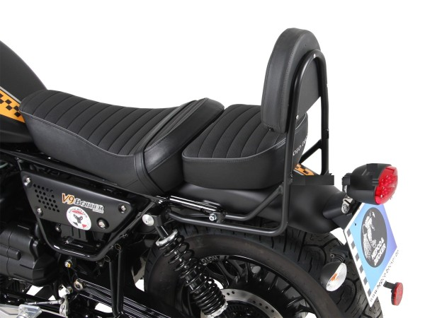 Sissy bar without luggage rack chrome for V 9 Bobber (Bj.17-) model with long seat