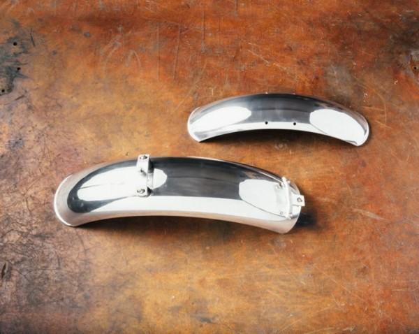 Aluminum fenders, pair, chrome for Moto Guzzi V7 I + II, V7 III