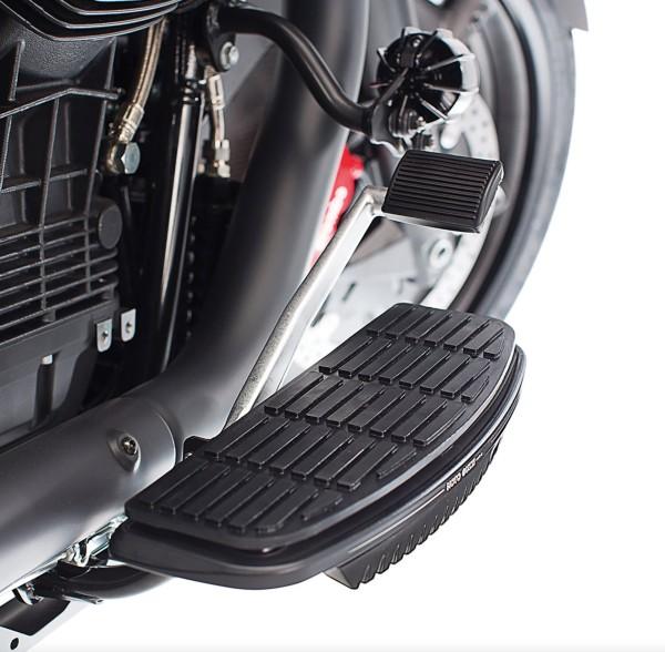Footboard cover, aluminum, black for Moto Guzzi MGX 21 / Audace