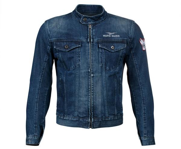 Moto Guzzi jacket blue polyester denim