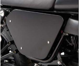 Original covers, aluminum, black for Moto Guzzi V7 I + II