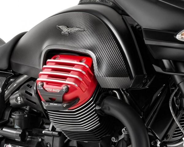 Aluminum protection bar, black for Moto Guzzi MGX 21