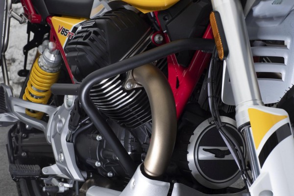 Original engine protection bar, black for Moto Guzzi V85 TT