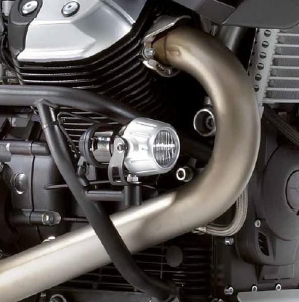 Engine protection bar, black for Stelvio 1200 original Moto Guzzi