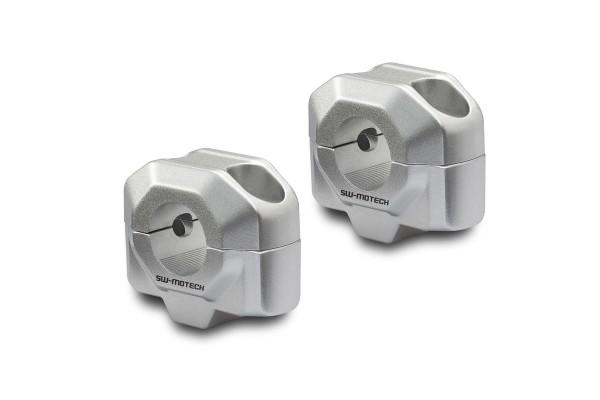 Handlebar riser 20 mm silver for for Moto Guzzi V7 III (16-) SW Motech