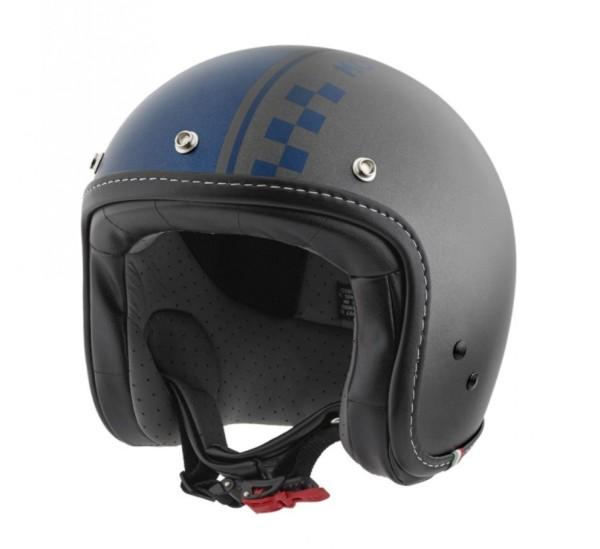Moto Guzzi Jet Helmet Ches gray blue