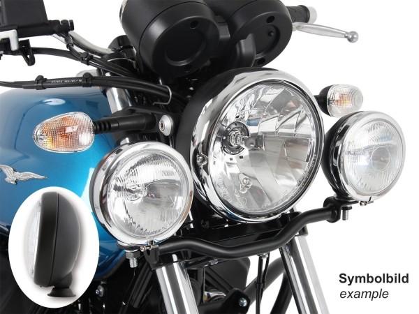 Twinlight set additional headlights black for V 7 III stone / special / Anniversario / Racer (Bj.17-)