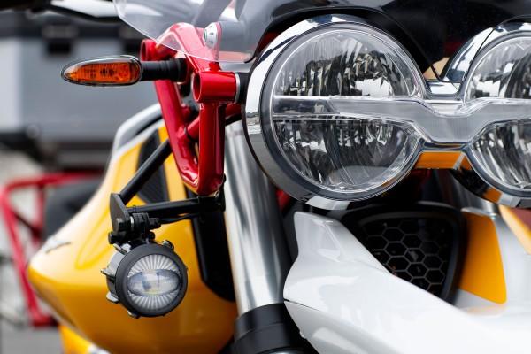 LED fog lights for Moto Guzzi V85 TT including installation kit