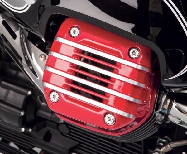 Original cover for cylinder head (pair), red for Moto Guzzi Eldorado