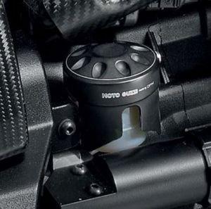 Original cover for brake fluid reservoir, aluminum, black for Moto Guzzi MGX 21