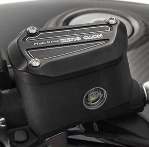 Cover, aluminum, black for Moto Guzzi MGX 21