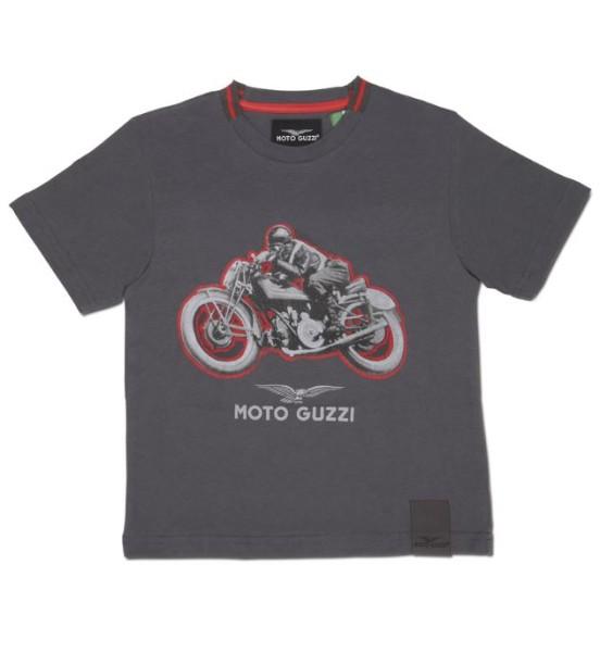 Moto Guzzi kids t-shirt garage cotton gray