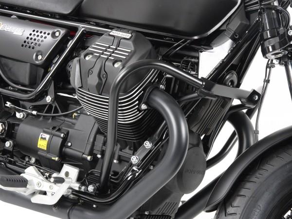 Engine protection bar black for V 9 Bobber (Bj.16-) / Bobber Sport (Bj.19-) original Hepco & Becker