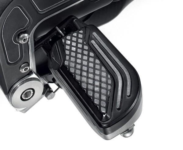 Footrest cover, aluminum, black for Moto Guzzi MGX 21