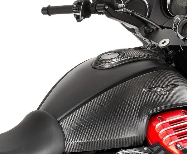Carbon tank cover for Moto Guzzi MGX 21