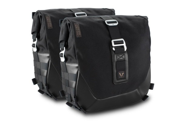 Legend Gear side bag system LC Black Edition for Moto Guzzi V7 III SW Motech