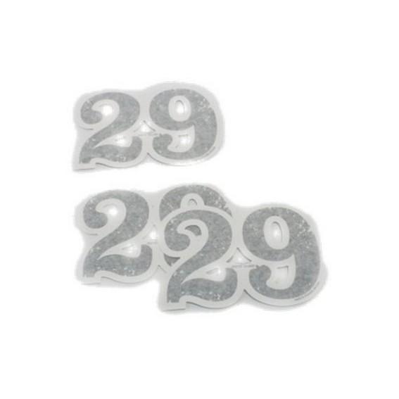 Original decor set, 29, adhesive numbers, aluminum for Moto Guzzi V7 I + II