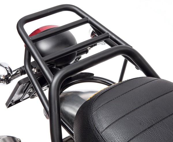 Luggage rack, rear, black, rigid for Moto Guzzi V7 I + II, V7 III