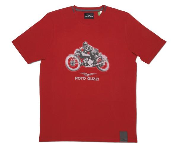 Moto Guzzi men's garage cotton t-shirt red