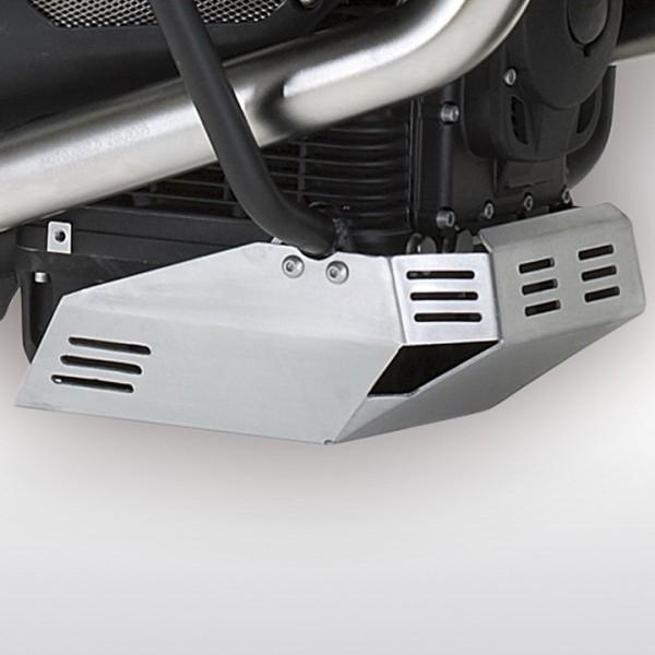 Moto Guzzi Stelvio aluminum oil pan protection