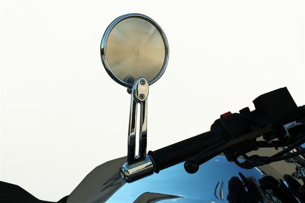 Original mirror, aluminum, silver for Moto Guzzi V7 III