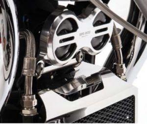 Original horn cover, aluminum, titanium for Moto Guzzi Eldorado / California