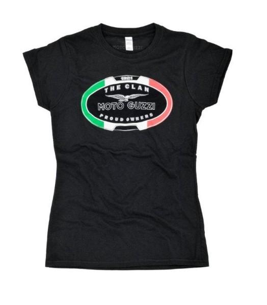 Moto Guzzi women's t-shirt THE CLAN black
