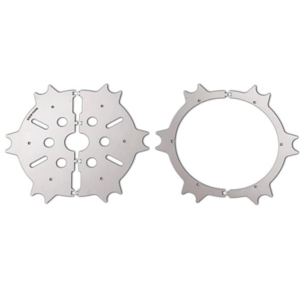 Original brake disc cover, stainless steel, silver, polished for Moto Guzzi Eldorado