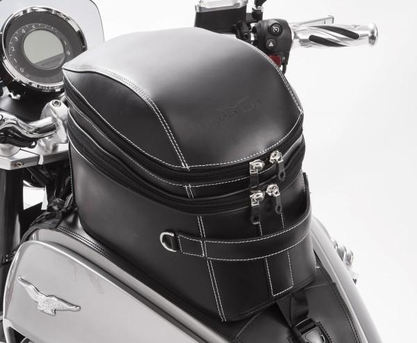 Original tank bag, leather, black for Moto Guzzi Eldorado