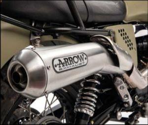 Original rear silencer, Arrow for Moto Guzzi V7 I + II