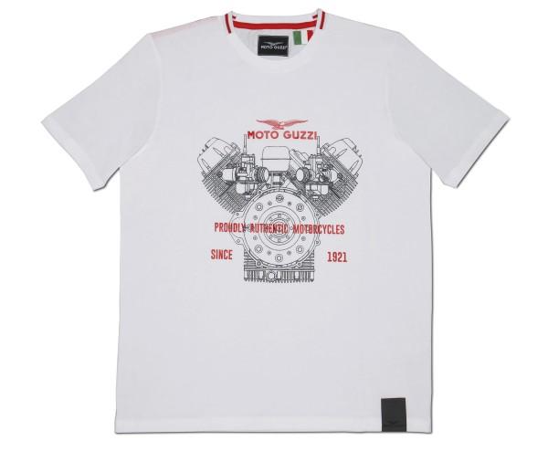 Moto Guzzi men's t-shirt classic cotton white