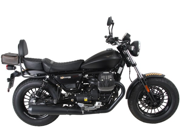 Sissy bar with luggage rack black for V 9 Roamer (Bj.17-) model with long seat