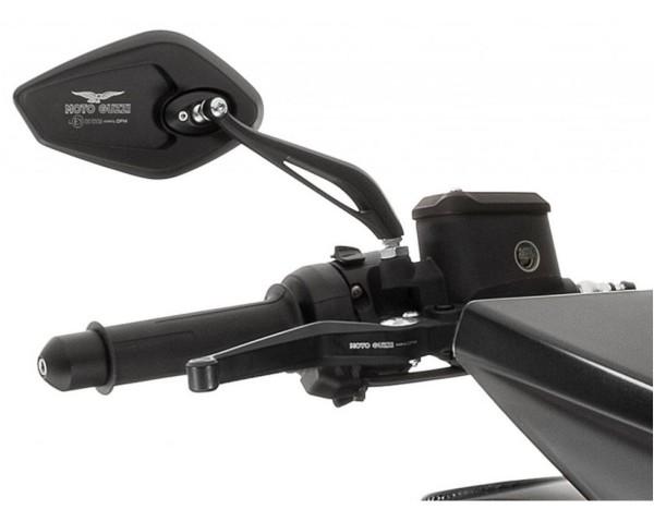 Mirror, set, aluminum, black for Moto Guzzi MGX 21