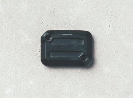 Cover for brake fluid reservoir, aluminum, Dark Rider, black for Moto Guzzi V7 III