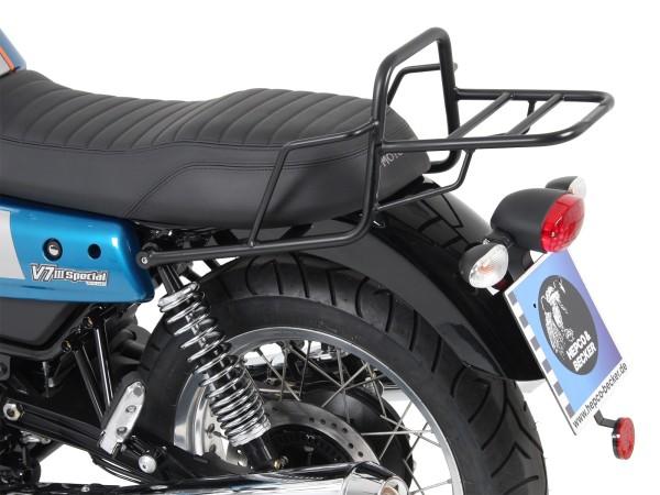 Tube luggage rack topcase rack black for V 7 III stone / special / Anniversario / Racer (Bj.17-)