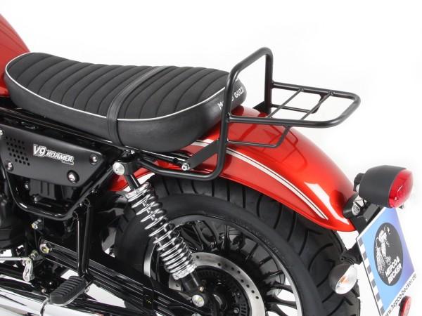 Tube luggage rack top case carrier black for V 9 Roamer (Bj.17-) model with short seat