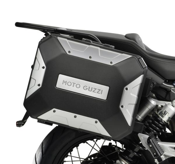 "Aluminum side case (set) ""URBAN"" for Moto Guzzi V85 TT"
