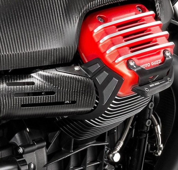 Heat protection, stainless steel for Moto Guzzi MGX 21