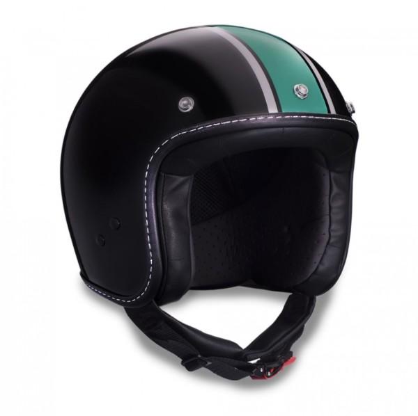 Moto Guzzi jet helmet, V7 III Special, black, green, silver, black